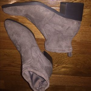 Forever 21 Shoes - Faux suede ankle booties tan brown camel